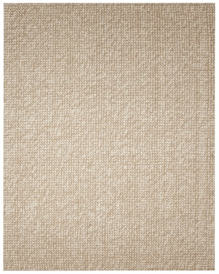 Jute Rug - 9' x 12' - Zatar Ribbed Loop Pile Natural Wool and Jute Area Rug in Ivory / Beige - AMB0308-0912