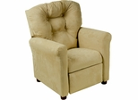 Juvenile Recliner Traditional Brownstone Microfiber