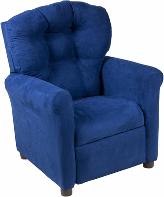 Juvenile Recliner Traditional Indigo Essence Microfiber