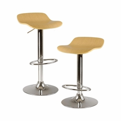Kallie Air Lift Adjustable Stool - Set of 2 - Winsome Trading - 93889