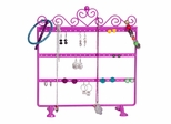 Kara Metal Scroll and Heart Jewelry Stand in Pink - 11223