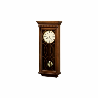 Kathryn Chiming Wall Clock in Tuscany Cherry - Howard Miller
