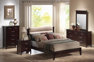 Kendra Eastern King Size Bedroom Furniture Set in Mahogany - Coaster - 201291KE-BSET