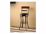 Kennedy Swivel Stool - Black / Gold With Cherry Panel Top - Hillsdale