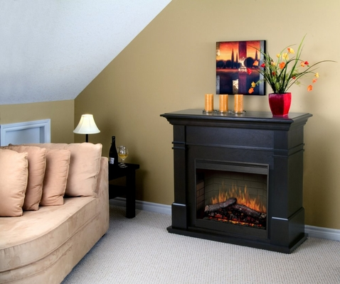 Kenton Electric Fireplace in Espresso - Dimplex - SMP-130-E-ST