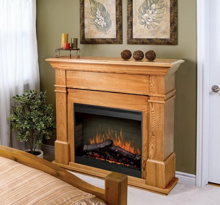 Kenton Electric Fireplace in Oak - Dimplex - SMP-130-O-ST