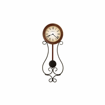Kersen Wrought Iron Pendulum Wall Clock - Howard Miller