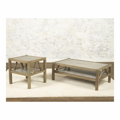 Ketley Rectangular Cocktail and End Table Set - Largo - LARGO-ST-T541-100-120-SET