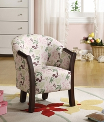Kid's Chair Floral Design, Wood - Elysia - 10064