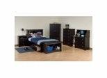 Kids Bedroom Furniture Collection in Black - Sonoma Collection - Prepac Furniture