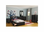 Kids Bedroom Furniture Collection in Solid Black - Spark - South Shore Furniture