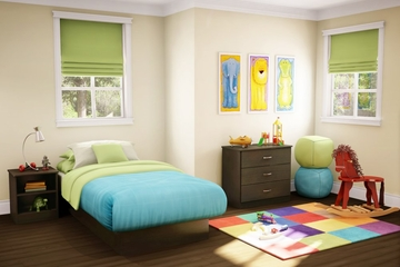 Kids Bedroom Furniture Set 1 in Chocolate - South Shore Furniture - 3159-BSET-161