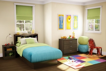Kids Bedroom Furniture Set 2 in Chocolate - South Shore Furniture - 3159-BSET-162