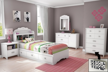 Kids Bedroom Furniture Set 2 - Tiara - South Shore Furniture - 3650-BSET-1