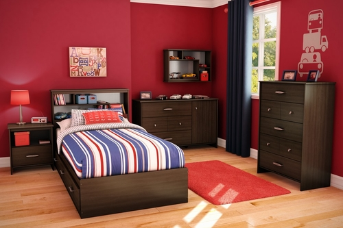 Kids Bedroom Furniture Set - Highway - South Shore Furniture - 3679-BSET