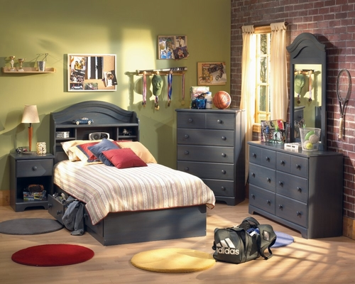 Kids Bedroom Furniture Set in Blueberry - South Shore Furniture - 3294-BSET