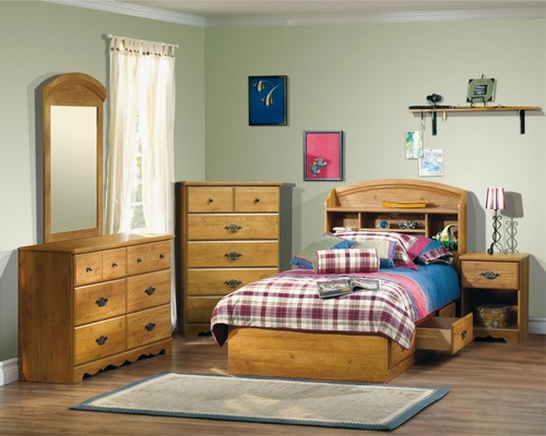 Kids Bedroom Furniture Set in Country Pine - South Shore Furniture - 3232-BSET-1