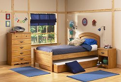 Kids Bedroom Furniture Set in Country Pine - South Shore Furniture - 3232-BSET-2