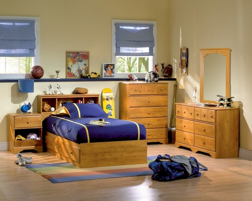 Kids Bedroom Furniture Set in Country Pine - South Shore Furniture - 3432-BSET-1