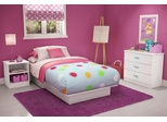 Kids Bedroom Furniture Set in Pure White - South Shore Furniture - 3050-BSET-11