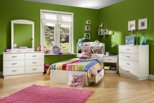 Kids Bedroom Furniture Set in Pure White - South Shore Furniture - 3360-BSET-1