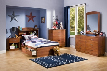 Kids Bedroom Furniture Set in Sunny Pine - South Shore Furniture - 3342-BSET-1