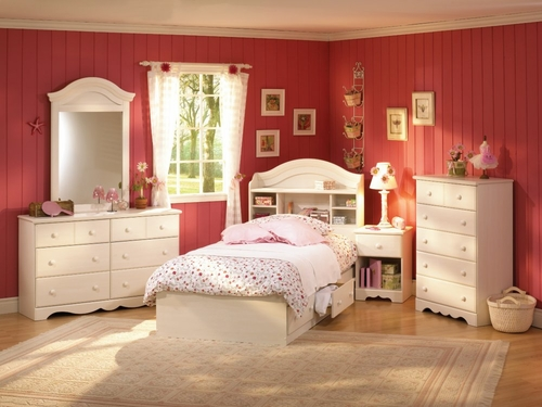 Kids Bedroom Furniture Set in Vanilla Cream - South Shore Furniture - 3210-BSET-1
