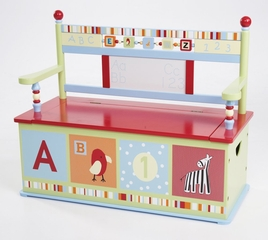 Kids Bench - Alphabet Soup Toy Box Bench - LOD70001