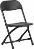 Kids Black Plastic Folding Chair - Y-KID-BK-GG