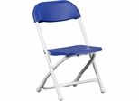 Kids Blue Plastic Folding Chair - Y-KID-BL-GG
