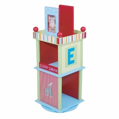 Kids Bookcase - Alphabet Soup Revolving Bookcase - LOD70007