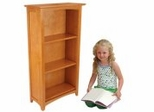 Kids Bookcase - Avalon Tall Bookshelf in Honey - KidKraft Furniture - 14041