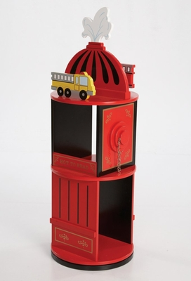 Kids Bookcase - Firefighter Revolving Bookcase - LOD20037