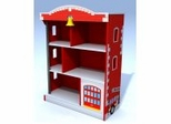 Kids Bookcase - Firehouse Bookcase - KidKraft Furniture - 76026