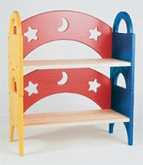 Kids Bookcase - Moon and Stars Stack Shelves - Guidecraft - G98043