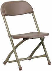 Kids Brown Plastic Folding Chair - Y-KID-BN-GG