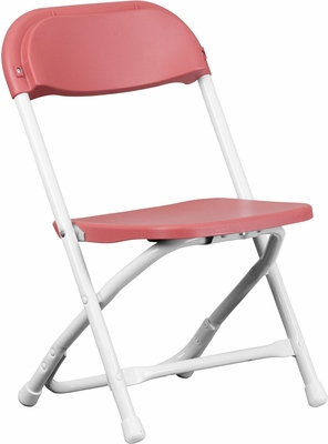 Kids Burgundy Plastic Folding Chair - Y-KID-BY-GG