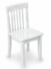Kids Chair and Seating - Avalon Chair in White - KidKraft Furniture - 16601