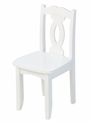 Kids Chair and Seating - Brighton Chair in White - KidKraft Furniture - 16701