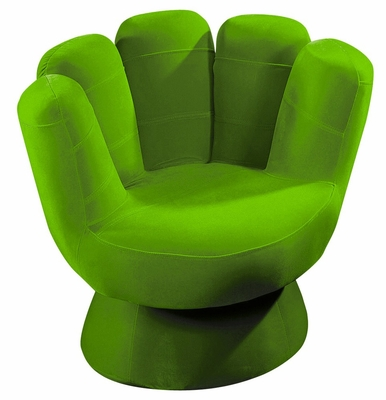 Kids Chair and Seating - Mini Mitt Chair in Green - LumiSource - CHR-MITTMINI-G