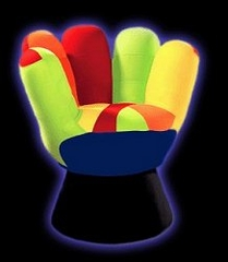 Kids Chair and Seating - Mini Mitt Chair in Multicolor - LumiSource - CHR-MITTMINI-V
