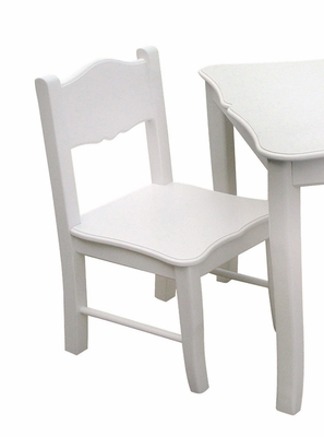 Kids Chair - Classic White Chair (Set of 2) in White Matte - Guidecraft - G85703