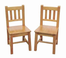 Kids Chair - Mission Chair (Set of 2) in Honey Oak Stain - Guidecraft - G85503