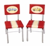 Kids Chair - Retro Racer Chair (Set of 2) in Multi Color - Guidecraft - G85803