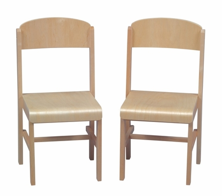 Kids Chair - Woodscape Chair (Set of 2) in Natural - Guidecraft - G6433