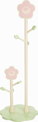 Kids Coat Rack / Growth Chart - Rock-A-My-Baby Double Clothestand - LOD20018