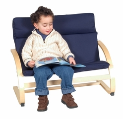 Kids Couch - Kiddie Couch in Blue - Guidecraft - G6407