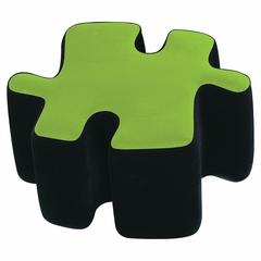 Kids Ottoman - Two-Toned Puzzotto in Green - LumiSource - CHR-OTTO-BK-G