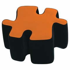 Kids Ottoman - Two-Toned Puzzotto in Orange - LumiSource - CHR-OTTO-BK-O