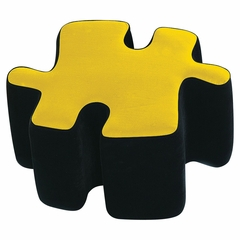 Kids Ottoman - Two-Toned Puzzotto in Yellow - LumiSource - CHR-OTTO-BK-Y